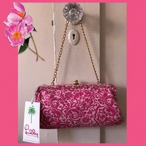 NWT Lily Pulitzer Clutch with Gold Chain 🌸
